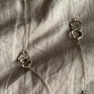 Coldwater Creek long silver necklace